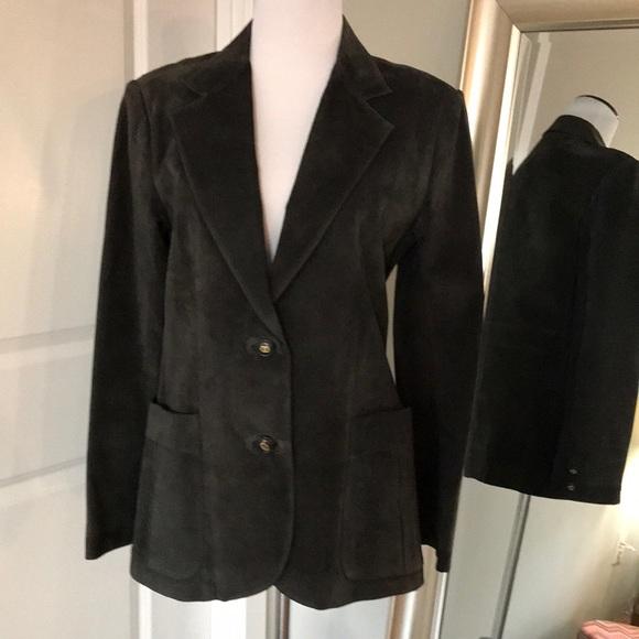 2a844362 Gucci Jackets & Coats | Suede Leather Jacket Blazer Vintage | Poshmark